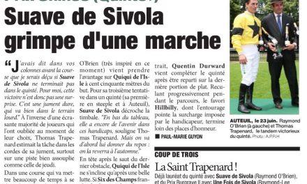 Coup de 2 des «Sivola» à Auteuil dont le Quinté +